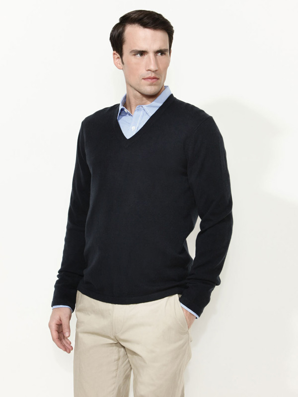 turmec v neck sweater over dress shirt