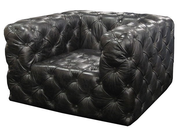Tufted Leather Club Seating