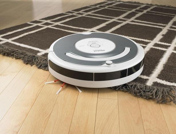 white robot vacuum