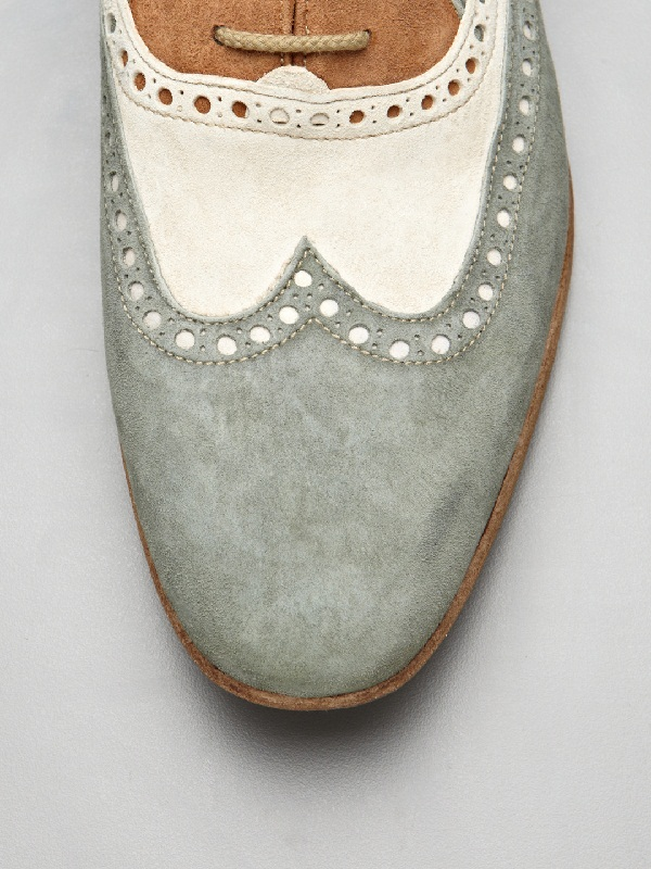 Antonio Maurizi Perforated Suede Shoes
