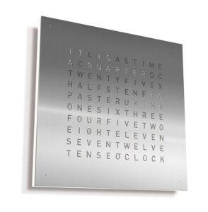 qlock modern wall clock