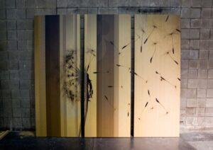 Bamboo Room Divider Art