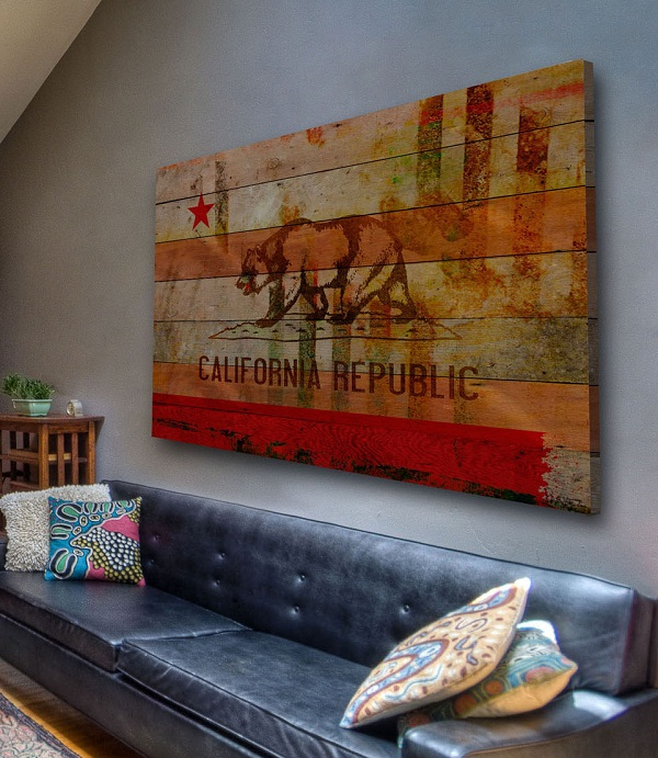 Reclaimed wood canvas