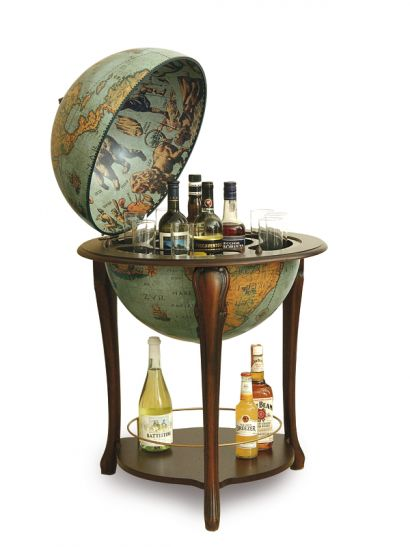 Floor Globe Bar with Drink Storage