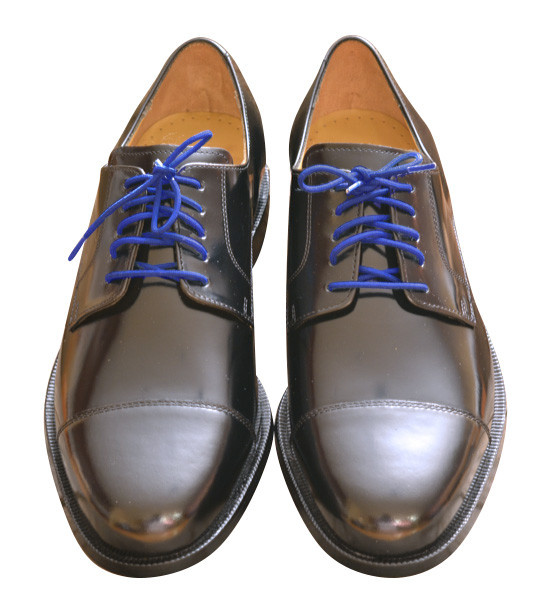 Dress shoe laces blue