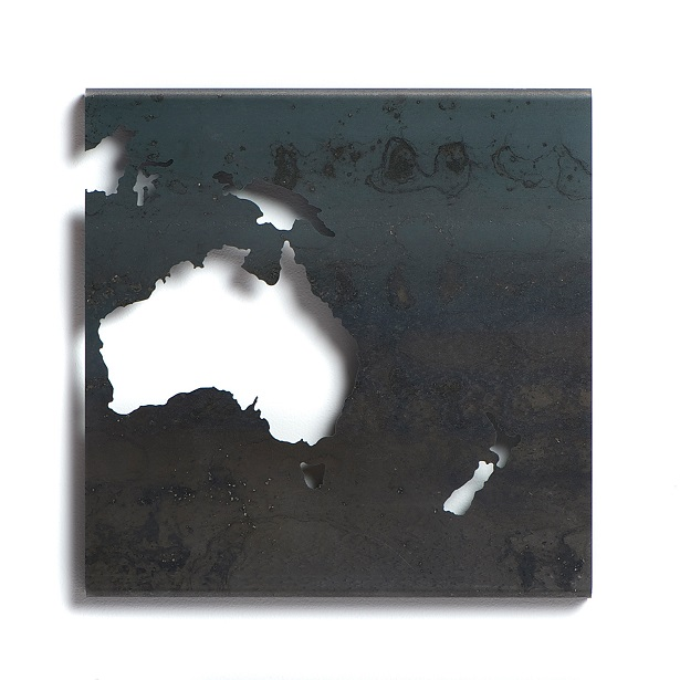 Australia metal art cutout